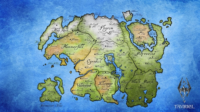 map, The Elder Scrolls IV Oblivion, Elder Scrolls, the elder scrolls v skyrim, The Elder Scrolls III Morrowind, Tamriel