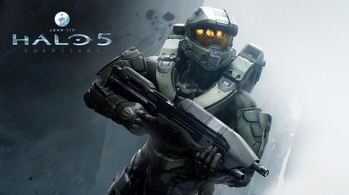 Spartans, Master Chief, Halo 5, machine gun