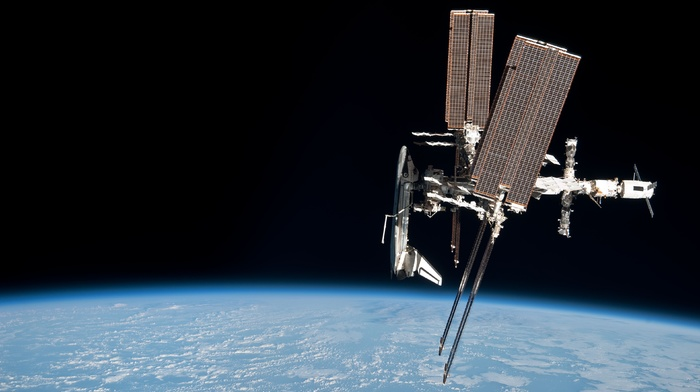 International Space Station, space, Earth, NASA, ISS, Space Shuttle Endeavour