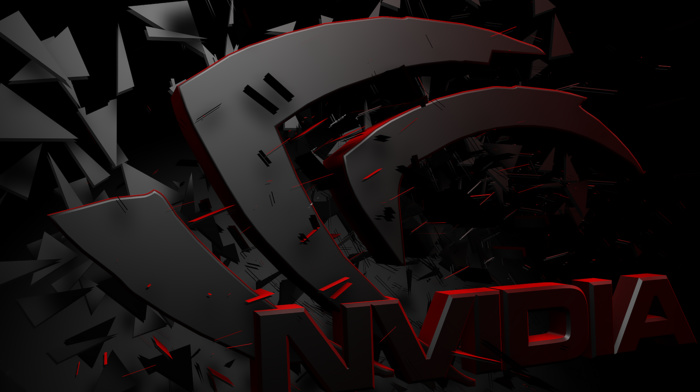 GPUs, Nvidia, 3D, render, logo