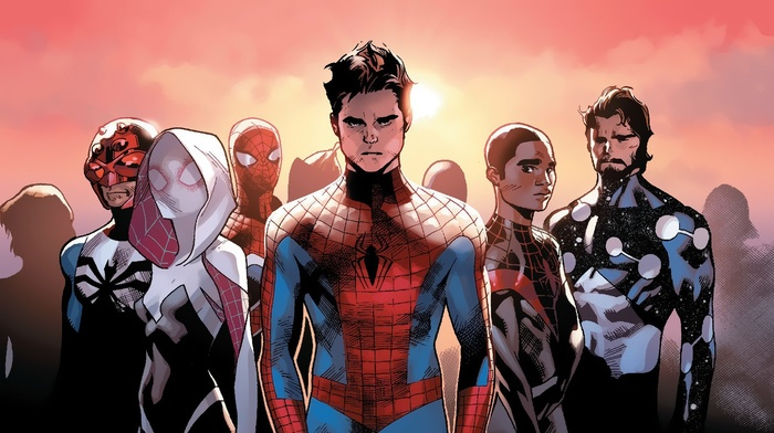 spider, Gwen, spider, man, Miles Morales, comic books, Marvel Comics