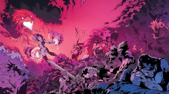 Marvel Comics, x, men, Jean Grey, Dark  Phoenix, comic books