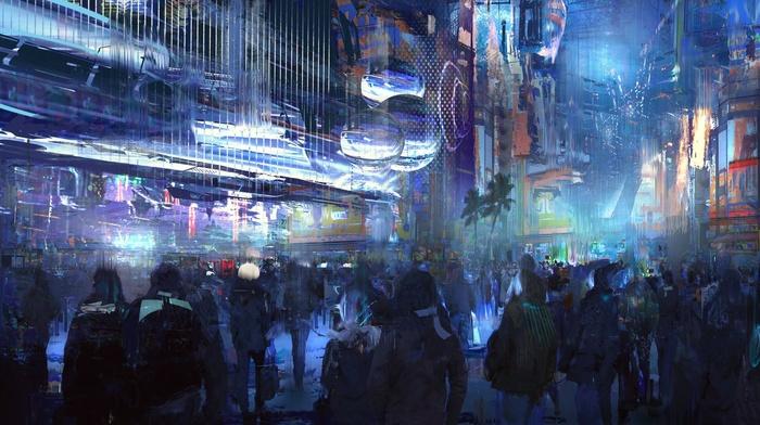 Cyberpunk Oil Painting