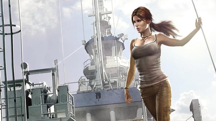tank top, Tomb Raider, video game characters, Lara Croft, video game girls, artwork, fan art, video games