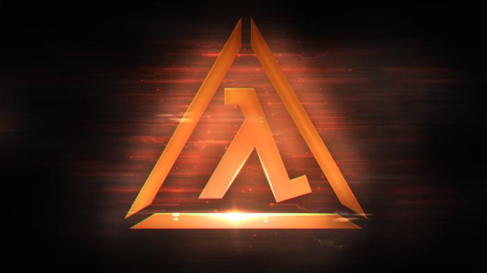 dark, Half, Life 2, video games, lambda, Life, orange, logo, Valve Corporation