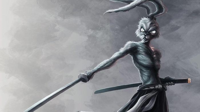 samurai, Usagi Yojimbo, Warner Brothers, katana, Bugs Bunny