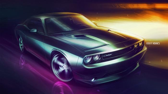 Dodge, car, challenger