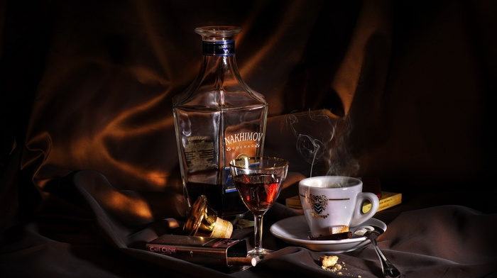 coffee, whisky, drink