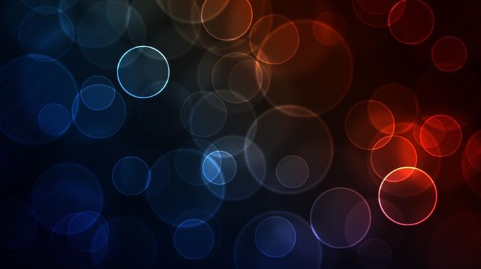circle, gradient, blue, bokeh, red