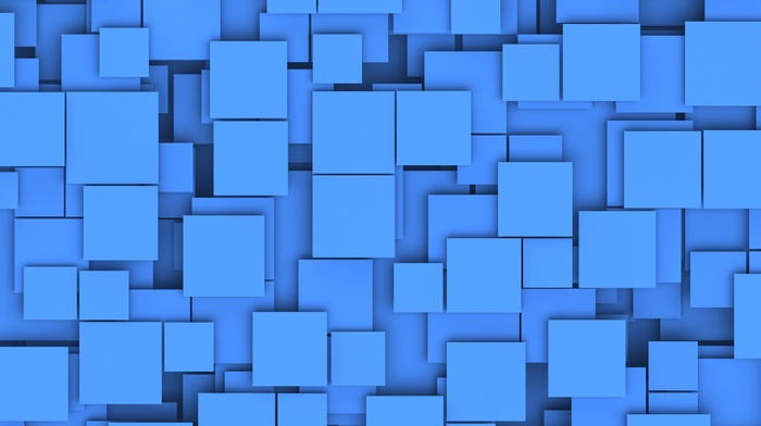geometry, shapes, abstract, blue