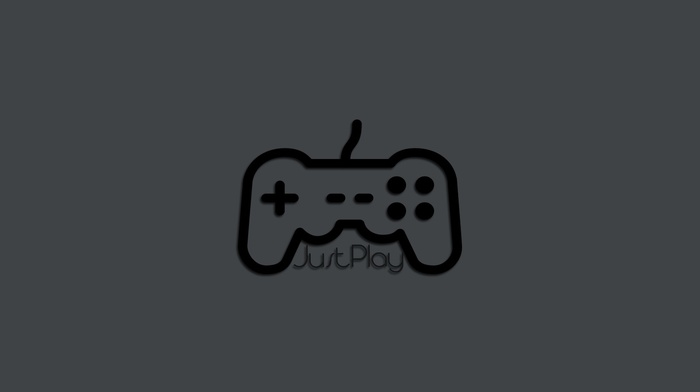 PC gaming, just play, gamers, playing, minimalism