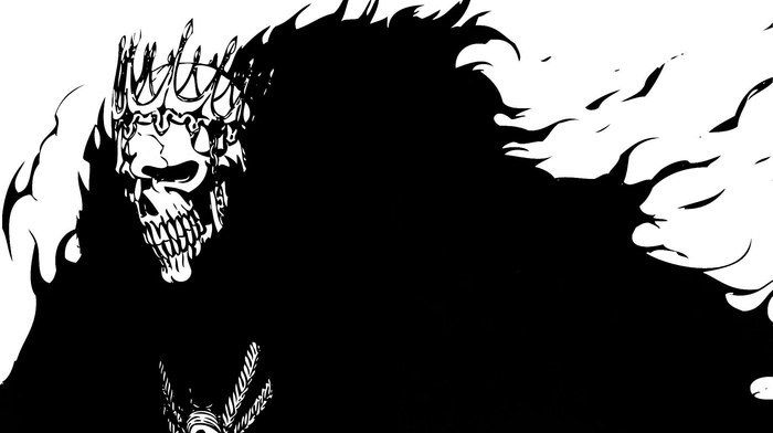 Bleach, skull, Espada, fantasy art, Barragan Luisenbarn