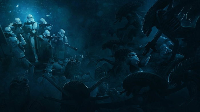 Storm Troopers vs Xenomorphs, aliens