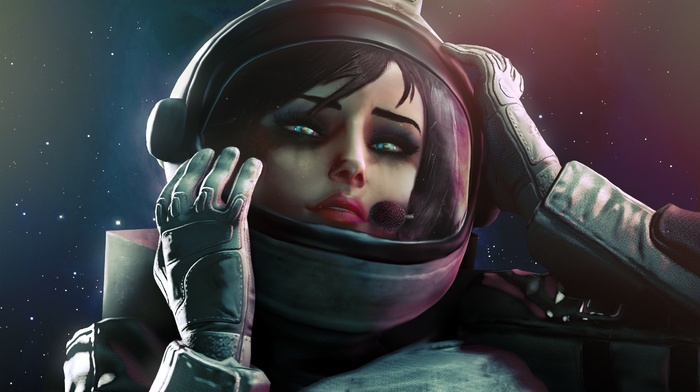 elizabeth bioshock, astronauts, artwork, BioShock