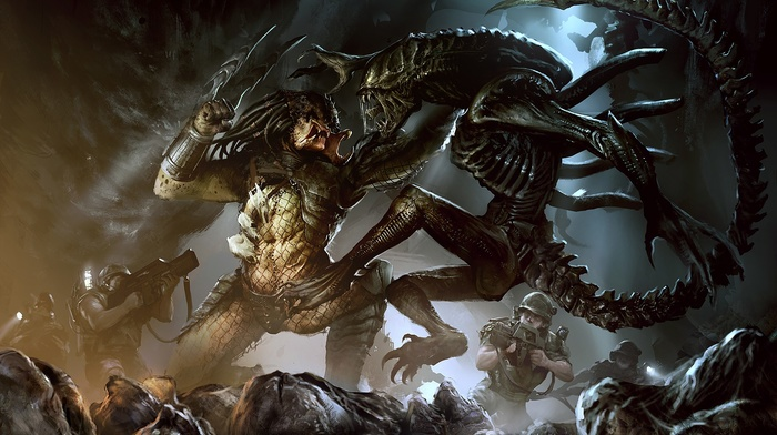 Alien vs. Predator, aliens, artwork, Xenomorph