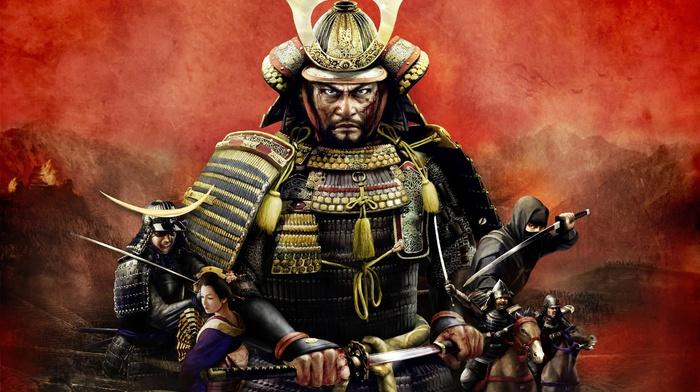 samurai, video games, katana, warrior, Total War Shogun 2