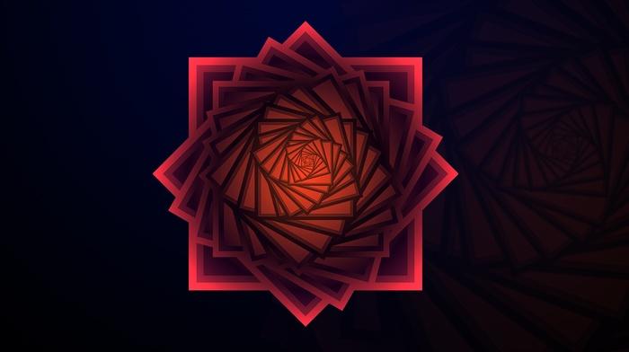 gradient, spiral, shades, fractal, cubic