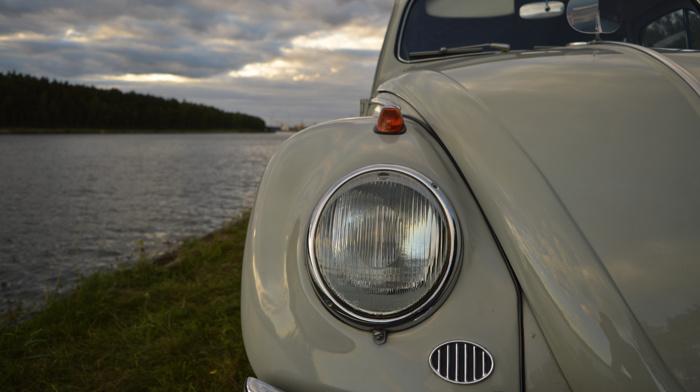 headlights, Volkswagen, Oldtimer, water, Volkswagen Beetle, vintage, Belgium, old car