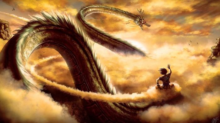fantasy art, Dragon Ball, shen, artwork, Dragon Ball Super, dragon, Dragon Ball Z, Son Goku