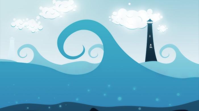 lighthouse, sea, artwork