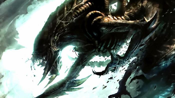 aliens, Xenomorph, artwork