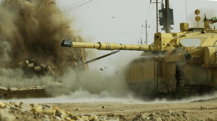 military, Afghanistan, British Army, explosion, Challenger 2, tank, combat