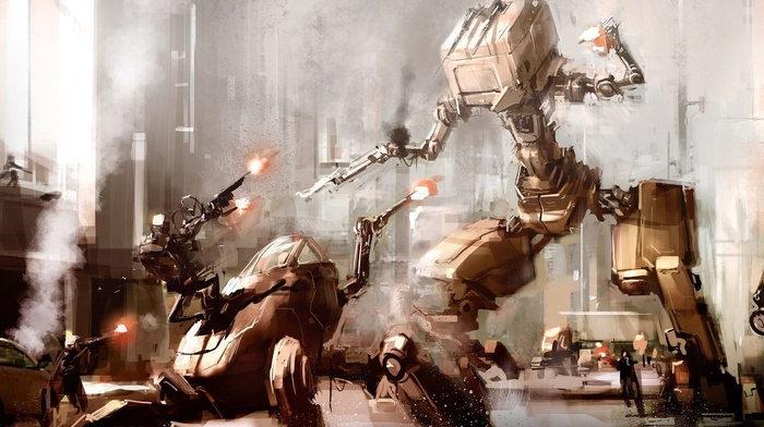 futuristic, science fiction, battle, sketches, artwork