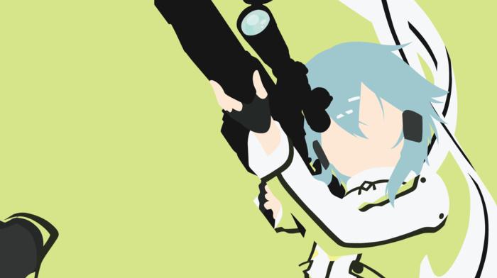 sword art online, vectors, Asada Shino
