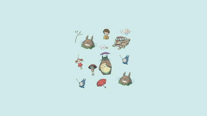 anime, Totoro, Nausicaa of the Valley of the Wind, My Neighbor Totoro, Nausicaa, anime girls, Studio Ghibli