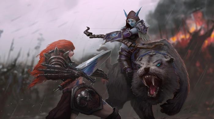 warrior, heroes of the storm, Sonya Heroes of the Storm, Sylvanas Windrunner