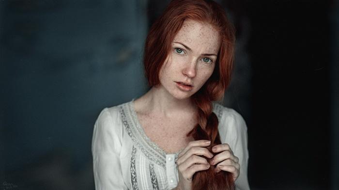 green eyes freckles Redhead