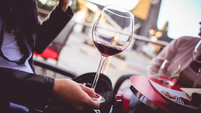 drink, drinking glass, girl, people, wine