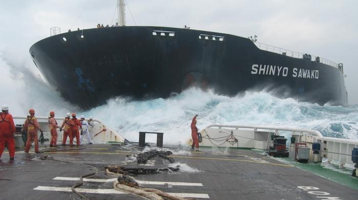 ship, sea, storm