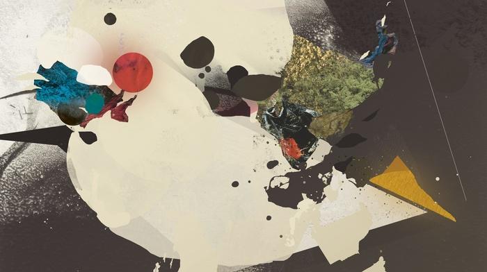 colorful, paint splatter, digital art