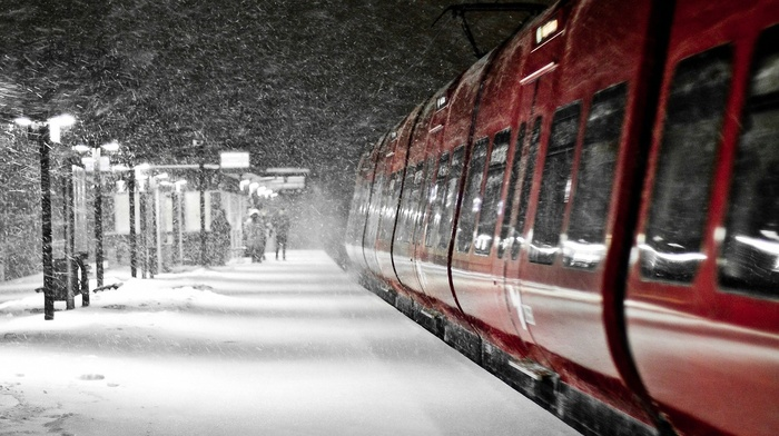 train, train station, railway