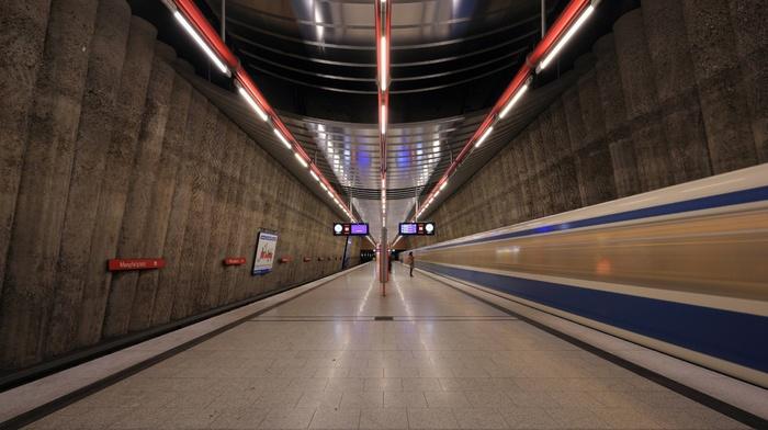 subway, train station, train, Germany