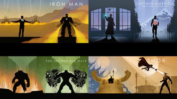 loki, Hulk, The Avengers, Captain America The First Avenger, Marvel Comics, comic books, concept art, Thor, Captain America, nick fury, Iron Man