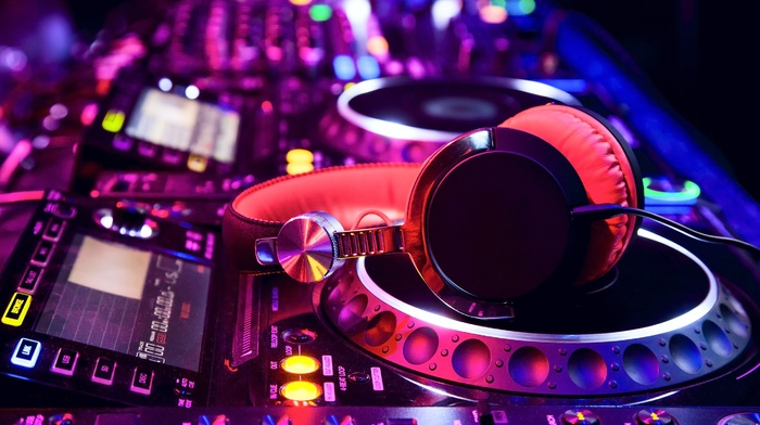 headphones, DJ, music