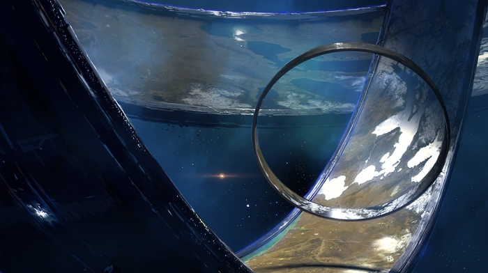 concept art, Halo, fantasy art, video games, digital art, artwork, space