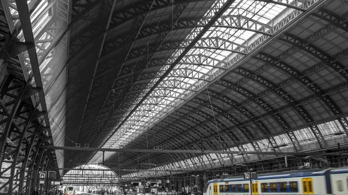 train, train station, Amsterdam