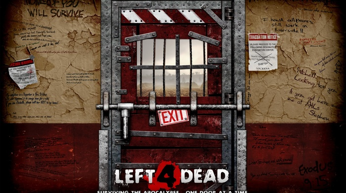 door, video games, Left 4 Dead 2, zombies
