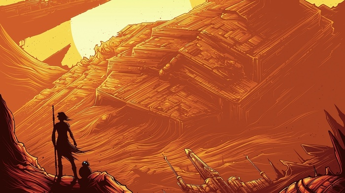 Star Destroyer, Star Wars Episode VII, The Force Awakens, x, wing, Star Wars, BB, 8