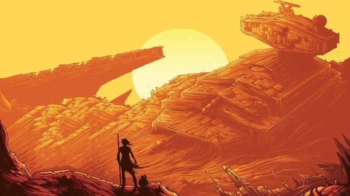 Star Wars Episode VII, The Force Awakens, jedi, Sun, Star Wars