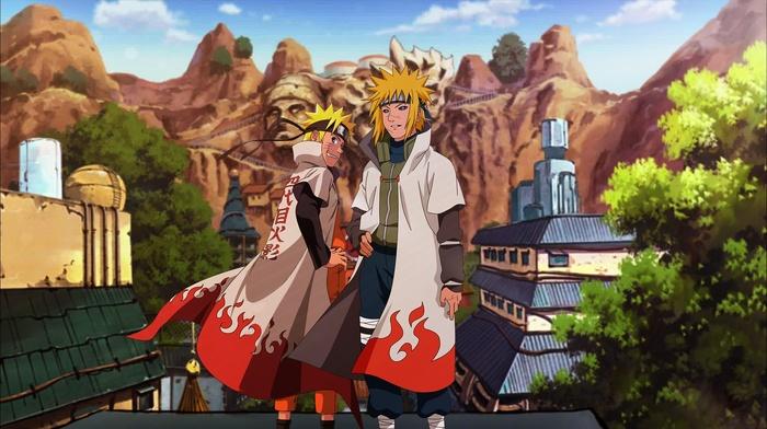 Konoha, Namikaze Minato, Naruto Shippuuden, Yondaime, Hokage, Uzumaki Naruto