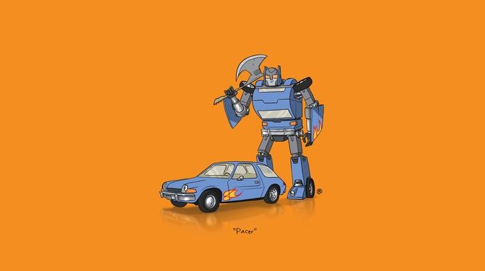 Transformers, car, minimalism