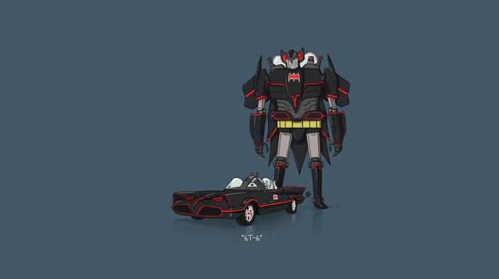 Batman, car, Transformers, minimalism