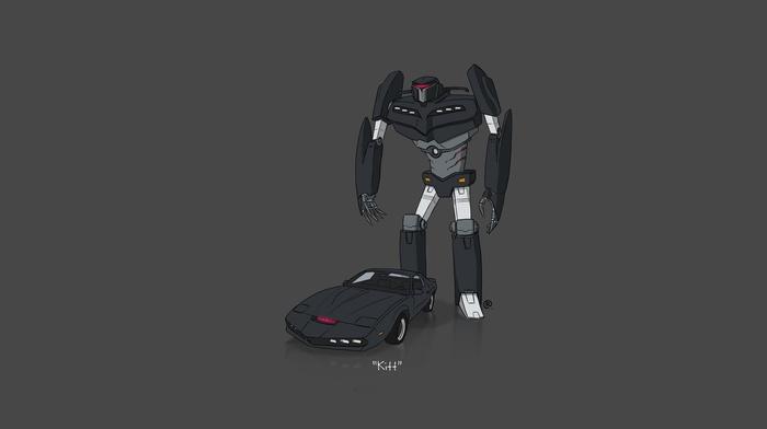 K.I.T.T., Transformers, Knight Rider, minimalism, car, Pontiac