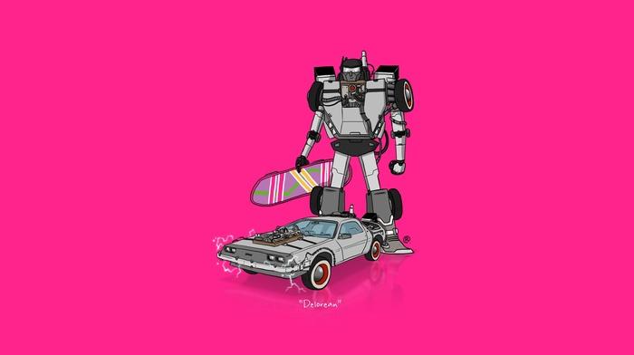 Transformers, delorean, minimalism, back to the future, car