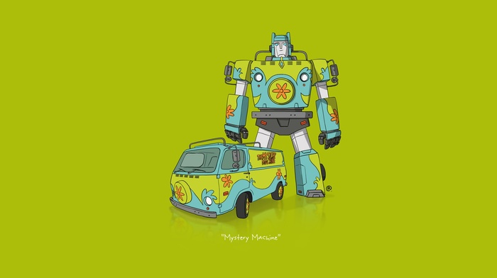 Transformers, car, Scooby, Doo, minimalism