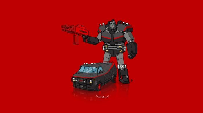 car, Transformers, minimalism, The A, Team